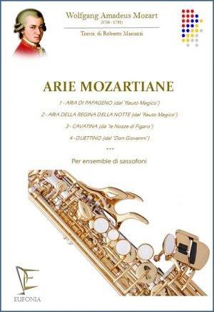 ARIE MOZARTIANE - PER ENSEMBLE DI SASSOFONI edizioni_eufonia