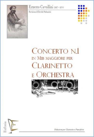 CONCERTO NR. 1 IN MIb PER CLARINETTO E ORCHESTRA - RID. CL. PF. edizioni_eufonia