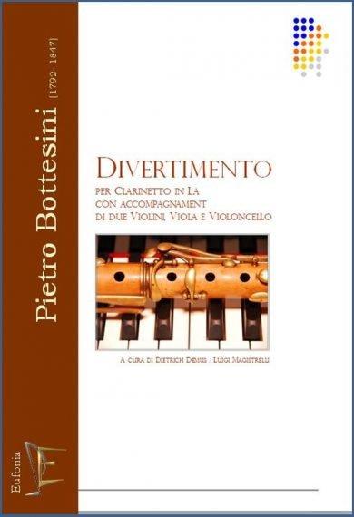 DIVERTIMENTO PER CLARINETTO E QUARTETTO D'ARCHI edizioni_eufonia